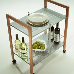 折りたたみキッチンワゴン:イタリア製キッチン家具