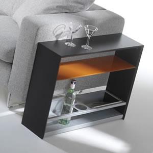 スリムサイドテーブル:イタリア製リビング家具