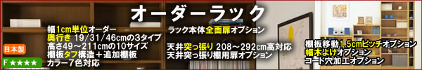 オーダーラック【収納家具通販/eインテリア】