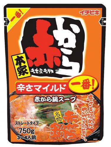 イチビキ 赤から鍋スープ 1番 750g ×5個【イージャパンモール】