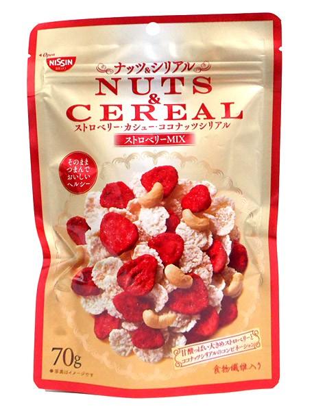 ★まとめ買い★ 日清シスコ NUTS&CEREALストロベリーMIX70g ×8個【イージャパンモール】