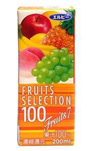 ★まとめ買い★ エルビーフルーツセレクション フルーツMIX 200ml ×24個【イージャパンモール】