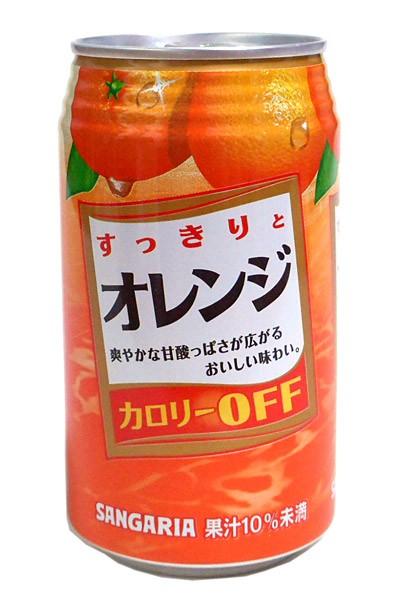 ★まとめ買い★ サンガリア すっきりとオレンジ 350g缶 ×24個【イージャパンモール】