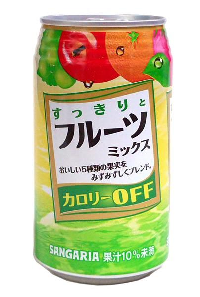 ★まとめ買い★ サンガリア すっきりとフルーツミックス 350g缶 ×24個【イージャパンモール】