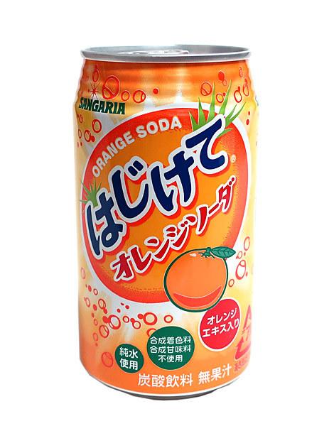 ★まとめ買い★ サンガリア はじけてオレンジソーダ 350g缶 ×24個【イージャパンモール】