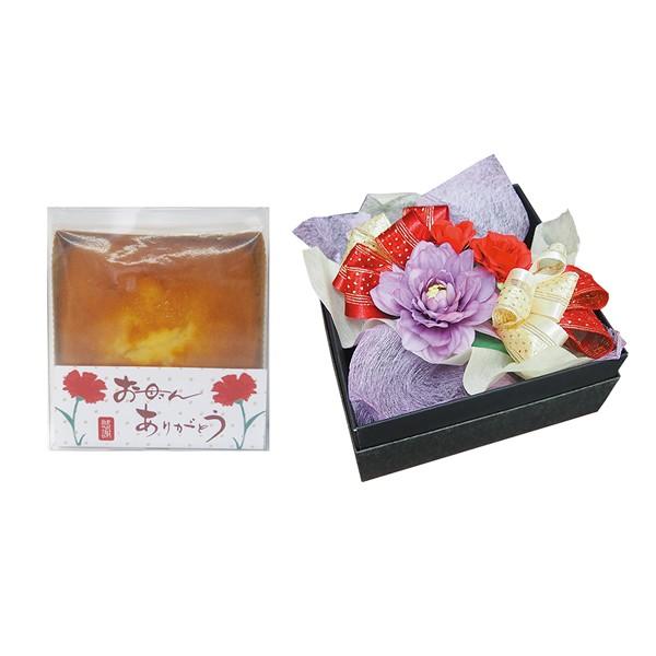 【送料無料】【母の日】母の日 BOXアレンジフラワー&パウンドケーキセット AR−10【代引不可】【ギフト館】