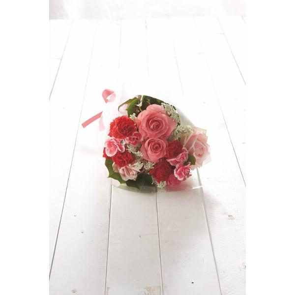 【送料無料】【母の日】ホワイトレース 母の日花束 赤系【代引不可】【ギフト館】