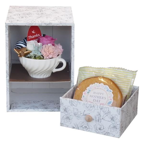 【送料無料】【母の日】母の日BOX プリザ&バウムセット PB−02N PB−02N【代引不可】【ギフト館】