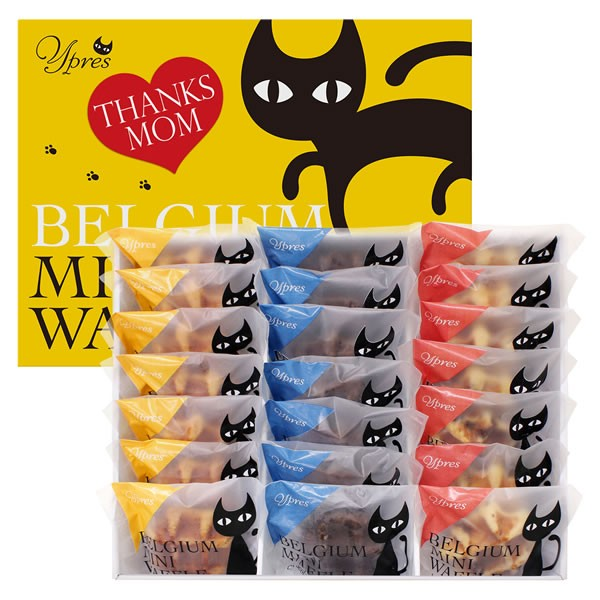 【送料無料】【母の日】母の日 イーペルの猫祭り ベルギーミニワッフル M−YJ−BW【代引不可】【ギフト館】