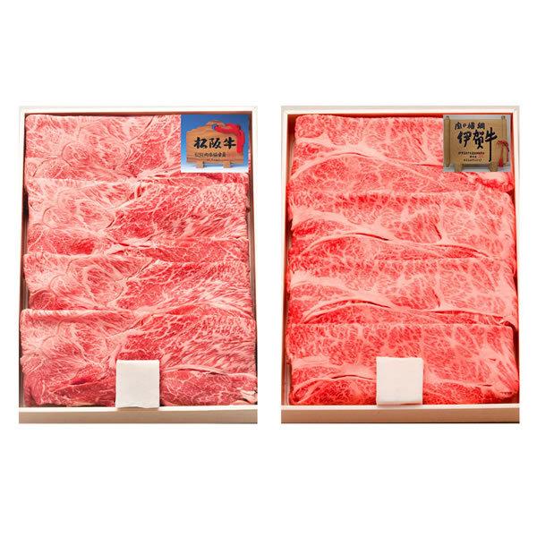 【送料無料】【母の日】松阪牛 母の日 松阪牛&伊賀牛すき焼き食べ比べセット US40−MA/KRS40−IG【ギフト館】