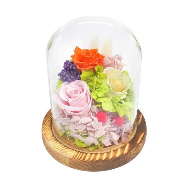 【送料無料】【母の日】母の日 ガラスドームアレンジメントソレイユ/ミックス B12493S【ギフト館】
