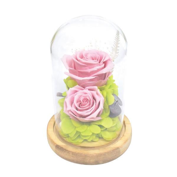 【送料無料】【母の日】母の日 ガラスドームアレンジメントコンパシオン/ピンク B12520【ギフト館】