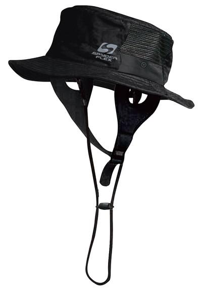 SPYDERFLEX 18 SpyderFlex サーフハット BLACK FREE【スポーツ館】