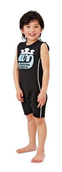 watermove child ショートウォーマーBK 110cm【スポーツ館】