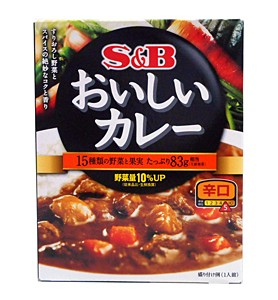 SBなっとくのおいしいカレー 辛口180g【イージャパンモール】