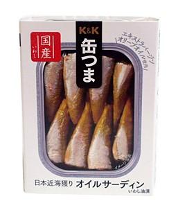 K&K缶つま日本近海獲りオイルサーディン105g/角3号【イージャパンモール】