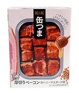 K&K缶つま厚切りベーコンのハニーマスタード味105g/角3【イージャパンモール】