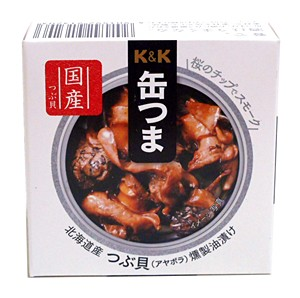 K&K缶つま北海道産つぶ貝燻製油漬け35g/P4号【イージャパンモール】