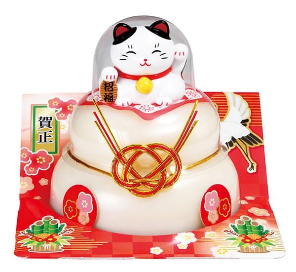 【鏡餅】【G-163】たいまつ お鏡餅福招き招き猫160g(パッと鏡開き)【イージャパンモール】