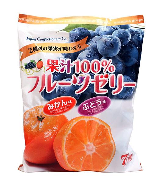 JCC 果汁100%フルーツゼリー7個【イージャパンモール】