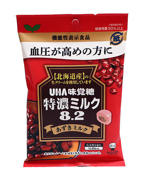 UHA味覚糖 機能性特濃ミルク8.2アズキミルク93g【イージャパンモール】