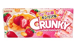 ロッテ クランキー つぶつぶ苺&シリアル 1枚入り【イージャパンモール】