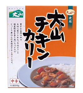 鳥取缶詰 大山チキンカレー 中辛 210g【イージャパンモール】