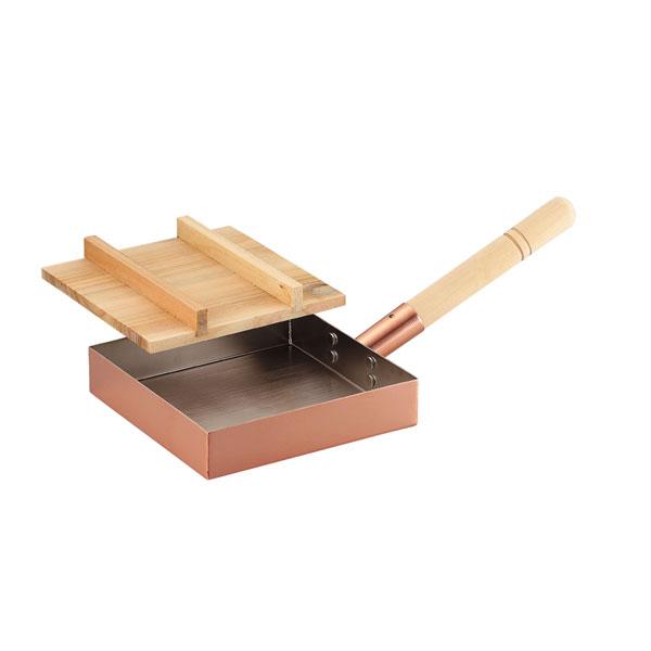 食楽工房 本職用玉子焼き18cm(木蓋付) CNE117【イージャパンモール】