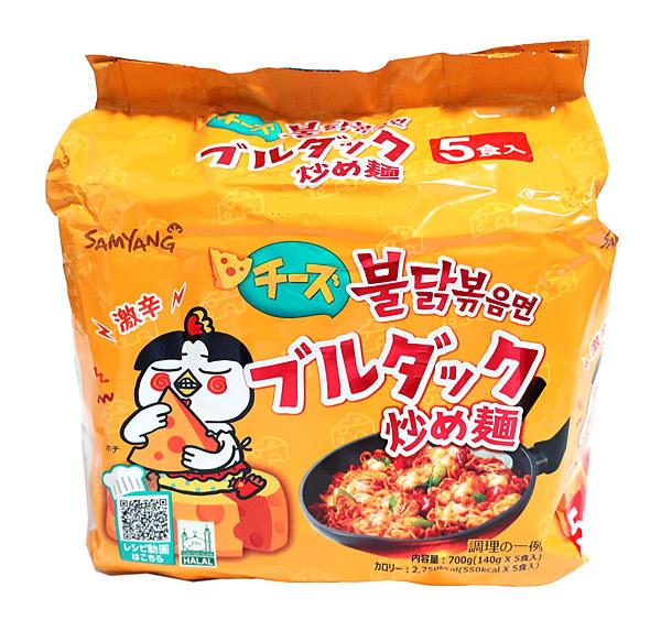 三養 チーズブルダック炒め麺5食【イージャパンモール】