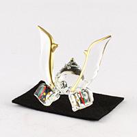 クリスタルガラス 兜【返品・交換・キャンセル不可】【逸品館】
