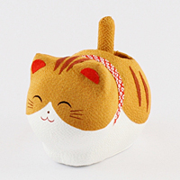 ゆらゆらソーラー猫 トラ【返品・交換・キャンセル不可】【逸品館】
