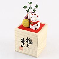 桐箱ソーラー 福よ来い招き猫【返品・交換・キャンセル不可】【逸品館】