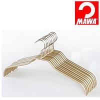 MAWA(マワ)社 10本セット マワハンガー 滑らないハンガー レディースハンガー ゴールド【代引不可】【日用品館】