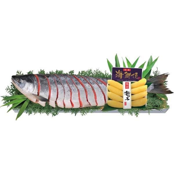 【送料無料】迎春 鮭・数の子セット E−SK【代引不可】【ギフト館】