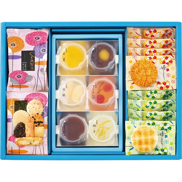 【送料無料】えくぼ屋 夏菓撰 おかき涼菓詰合せ SH−30N【ギフト館】