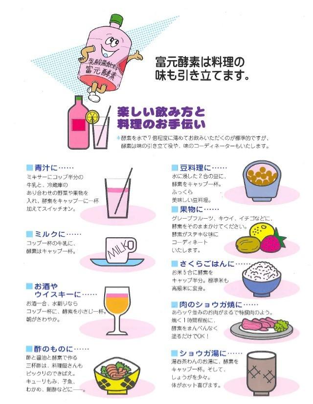 富元酵素の楽しい飲み方