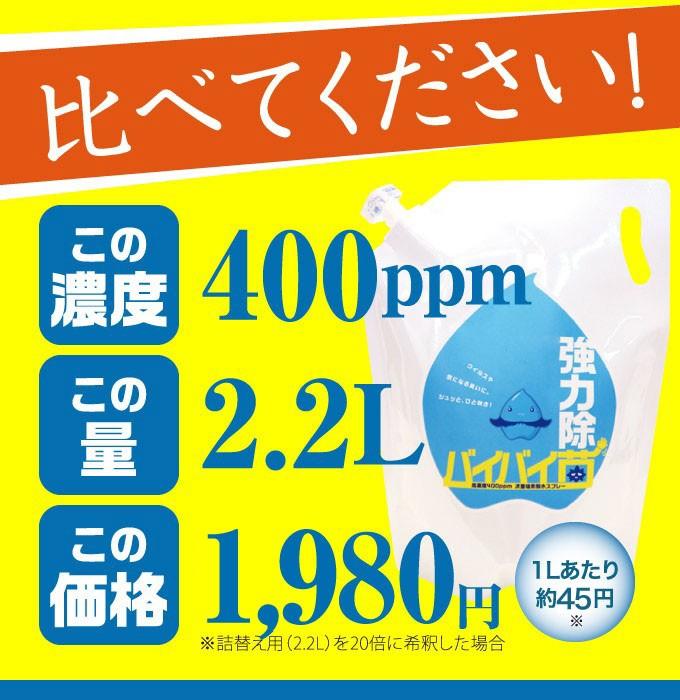 高濃度400ppm原液が2.2L/SALE