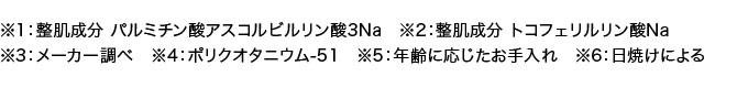 整肌成分 パルミチン酸アスコルビルリン酸3Na トコフェリルリン酸Na