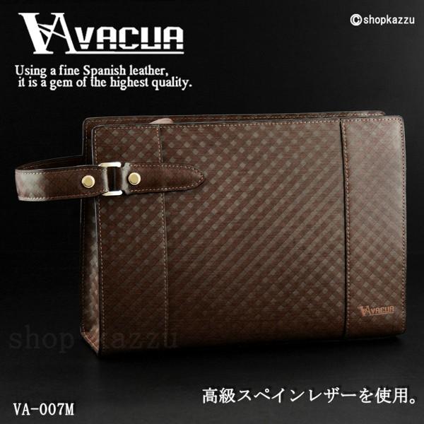 セカンドバッグ メンズ VACUA ヴァキュア スペインレザー 牛革 メッシュ ループハンドル