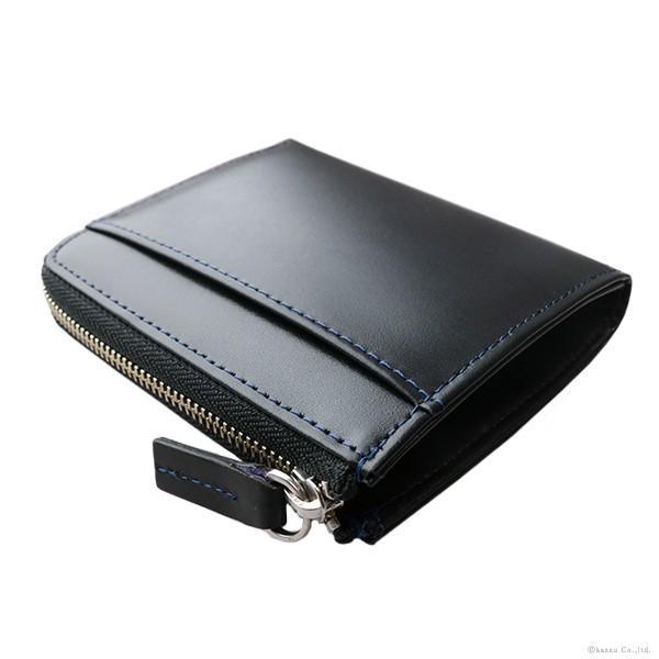 8742bc27e440 財布 メンズ 折財布 短財布 L字ファスナー レザーウォレット 馬革×牛革 DIABLO