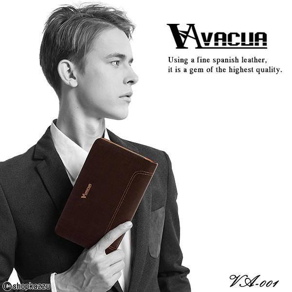 セカンドバッグ メンズ VACUA-ヴァキュア- スペインレザー 牛革 ダブルファスナー