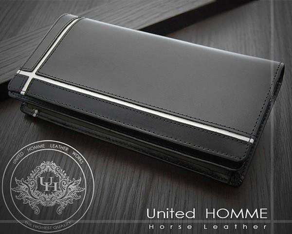 長財布 メンズ United HOMME クロスライン ホースハイド×カウハイド