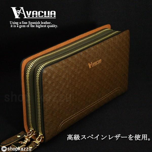 セカンドバッグ メンズ VACUA-ヴァキュア- スペインレザー メッシュ ダブルファスナー