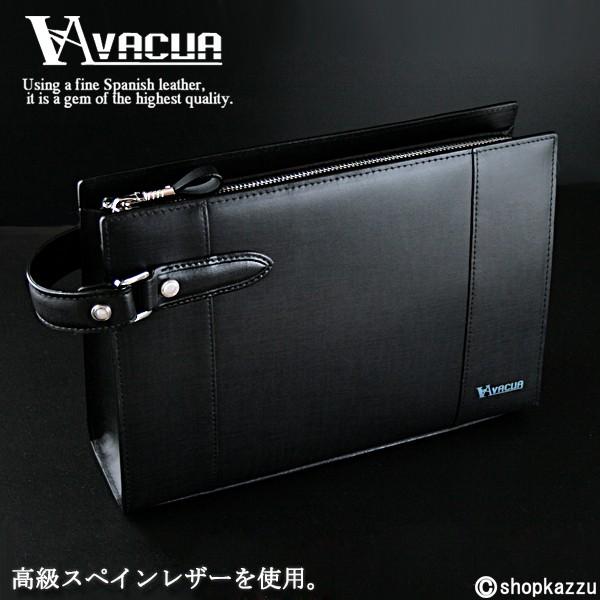 セカンドバッグ メンズ VACUA ヴァキュア スペインレザー 牛革 ループハンドル