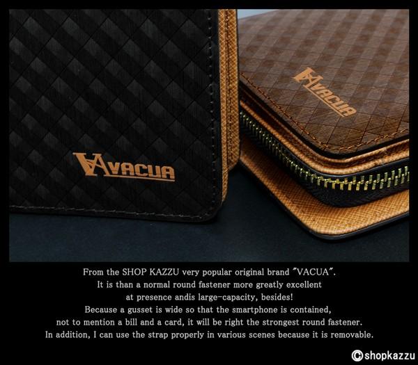 長財布 メンズ VACUA ヴァキュア 牛革 スペインレザー 多機能 ラウンドファスナー