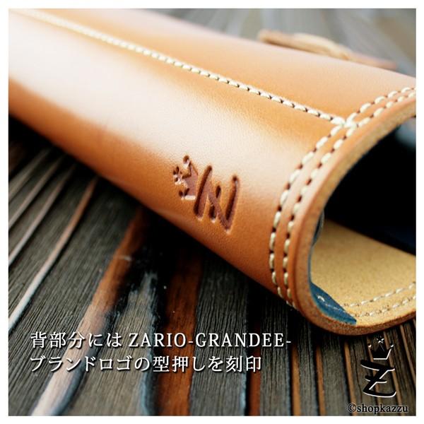 システム手帳 ZARIO-GRANDEE- 牛革 栃木レザー 6穴 コンパクトサイズ 手帳カバー