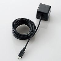 ケーブル一体型スマホ用AC充電器(長寿命・1A)(MPA-ACMAC255BK)