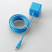 ケーブル一体型スマホ用AC充電器(長寿命・1A)(MPA-ACMAC255BU)
