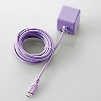 ケーブル一体型スマホ用AC充電器(長寿命・1A)(MPA-ACMAC255PU)