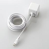 ケーブル一体型スマホ用AC充電器(長寿命・1A)(MPA-ACMAC255WH)